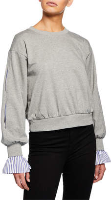 Marled By Reunited Clothing Double-Layer Sleeve Sweatshirt
