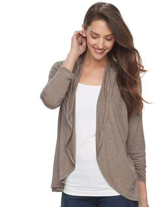 Apt. 9 Women's Shadow Stripe Flyaway Cardigan