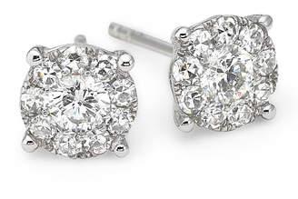 JCPenney FINE JEWELRY Brilliant Dream 1/2 CT. T.W. Diamond 14K White Gold Stud Earrings