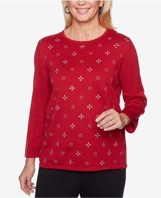 Alfred Dunner Classics Embellished Sweater