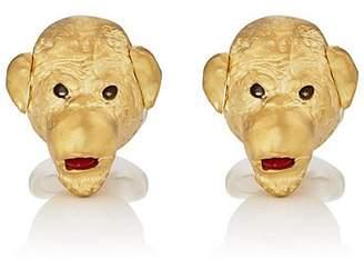 Deakin & Francis Men's Cheeky Monkey Cufflinks - Gold