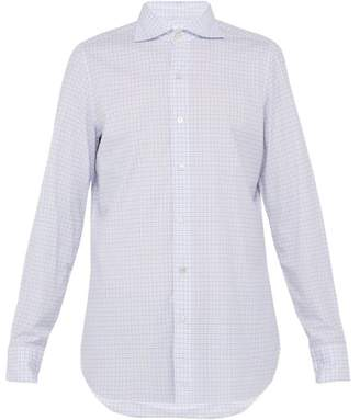 Finamore 1925 - Gaeta Checked Cotton Shirt - Mens - Blue Multi