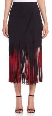 Tamara Mellon Signature Suede Fringe Skirt
