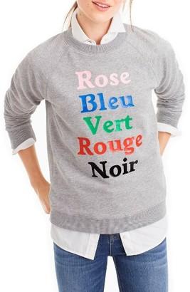 Women's J.crew French Colors Sweatshirt $49.50 thestylecure.com