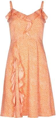Yumi Frilled spot Print dress