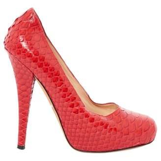 Alejandro Ingelmo Red Leather Heels