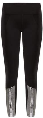 Track & Bliss - Training Days Contrast Panel Performance Leggings - Womens - Black