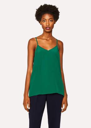 Paul Smith Women's Green Silk-Blend Cami Top