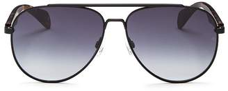 Rag & Bone Men's Street Classic Aviator Sunglasses, 65mm