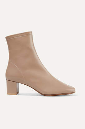 BY FAR Sofia Leather Sock Boots - Beige