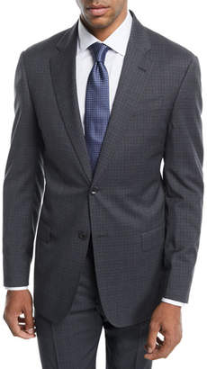 Emporio Armani Small Check Two-Piece Wool Suit