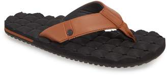 Volcom 'Recliner' Leather Flip Flop