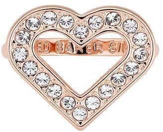 Ted Baker Evvah Swarovski Crystal Accented Enchanted Heart Ring - Size M-L