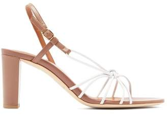 Malone Souliers Binette Knotted Leather Slingback Sandals - Womens - Pink White