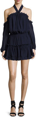 MISA Los Angeles Indi Off-the-Shoulder Mini Blouson Dress $246 thestylecure.com