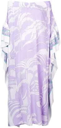 Emilio Pucci La Villa Print Belted Silk Kaftan Dress