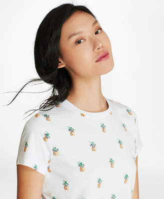 Brooks Brothers Pineapple-Sequined T-Shirt