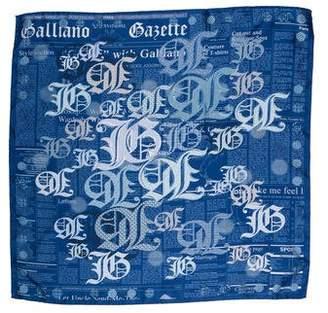 John Galliano Silk Printed Scarf w/ Tags