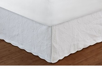"Paige Global Trends Quilted White Bed Skirt 18"" Twin"