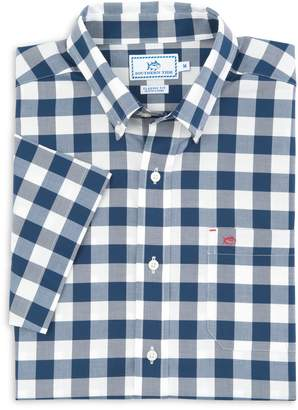 Buffalo David Bitton Southern Tide Check Short Sleeve Button Down