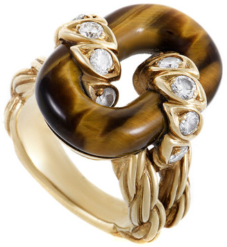 Van Cleef & Arpels Heritage  18K 5.48 Ct. Tw. Diamond & Tiger's Eye Ring