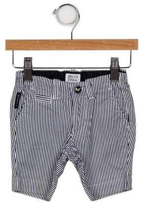 Armani Junior Boys' Striped Woven Shorts