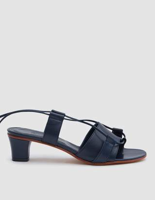 Martiniano Brubu Wrap Sandal in Navy