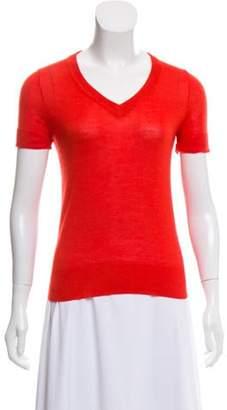 Derek Lam Cashmere & Silk Short Sleeve Top Cashmere & Silk Short Sleeve Top