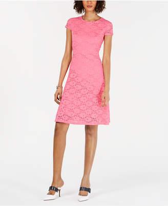 a8391f290ca Alfani Petite Lace Fit   Flare Dress