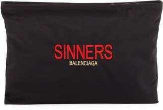 Balenciaga Explorer Embroidered Pouch
