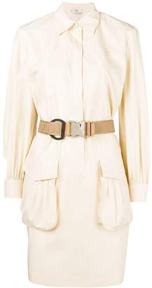 Fendi belted shirt dress