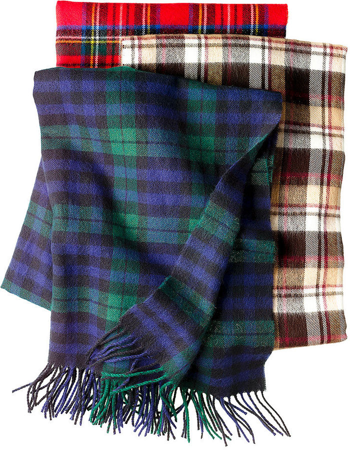 David & Young Macy's Scarf, Softer Than Cashmere Oversized Plaid Shimmer Scarf