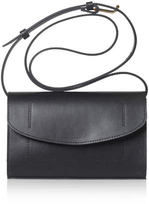 Joanna Maxham Runthrough Black Leather Mini Bag