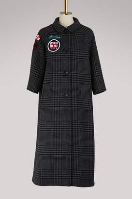 Miu Miu prince of Wales wool coat