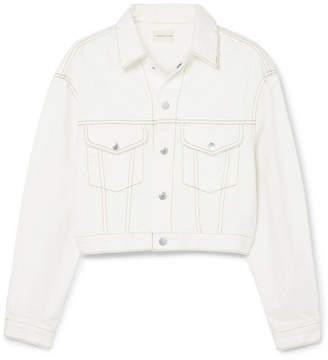 Simon Miller Enid Cropped Denim Jacket - White