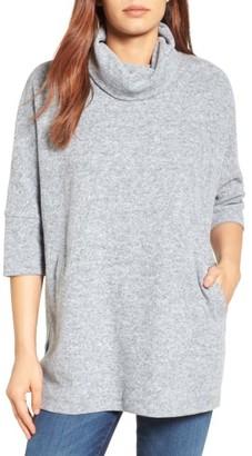 Women's Caslon Zip Back Pullover $89 thestylecure.com