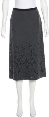 Strenesse Wool Midi Skirt