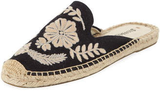 Soludos Tuilleries Embroidered Flat Mules