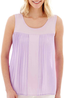 A.N.A a.n.a Pleated Tank Top $36 thestylecure.com