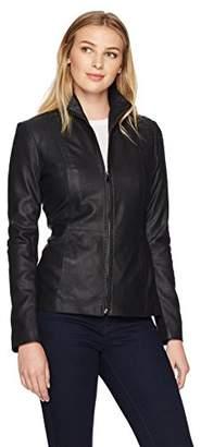 Lark & Ro Women's Scuba Leather Jacket