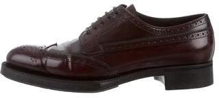 Prada Leather Wingtip Brogues