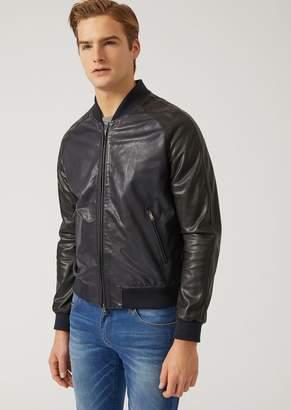 Emporio Armani Two Colour Leather Jacket