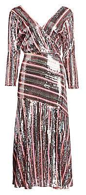 Rixo Women's Tyra Sequin Stripe Dress