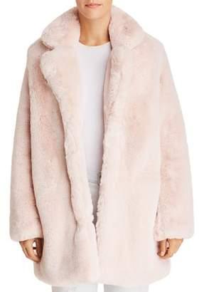 Blanc Noir Apparis Sophie Faux Fur Coat