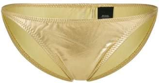 Norma Kamali metallic bikini bottoms