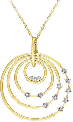 Diamond Select Cuts 14K 0.14 Ct. Tw. Diamond Celestial Necklace