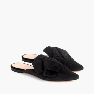 J.Crew Pointed-toe slides in suede