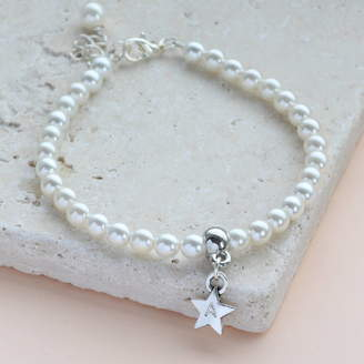 Joy by Corrine Smith Personalised Star Pearl Bracelet