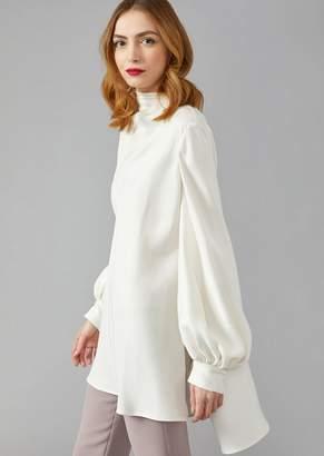 Giorgio Armani Silk Cady Drape Shirt