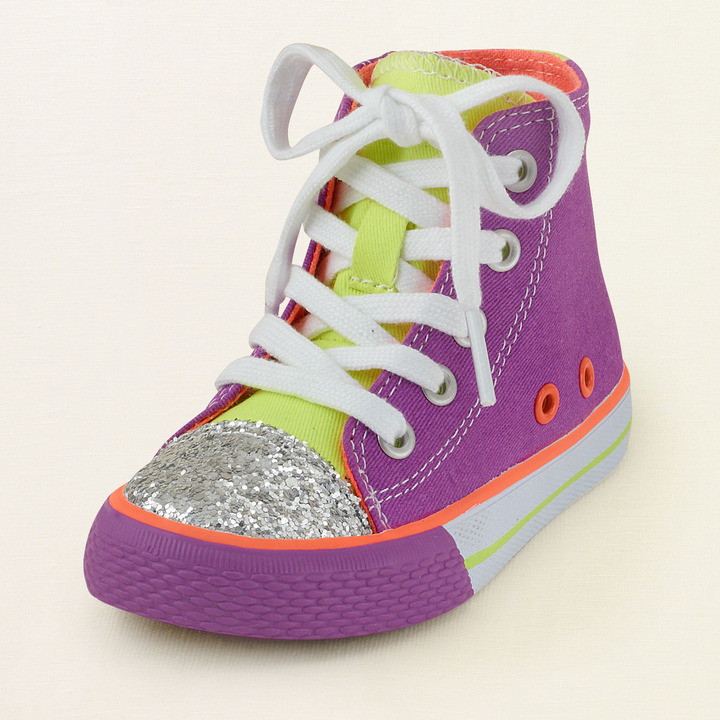 Children's Place Neon hi-top sneaker